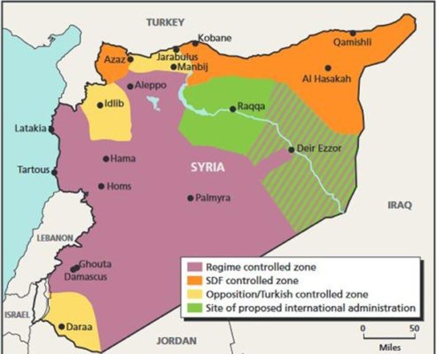 Graphik Teilung Syriens